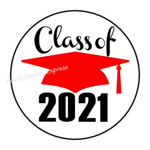 30 SENIOR 2021 GRADUATION ENVELOPE SEALS LABELS STICKERS PARTY FAVORS 1.5/""