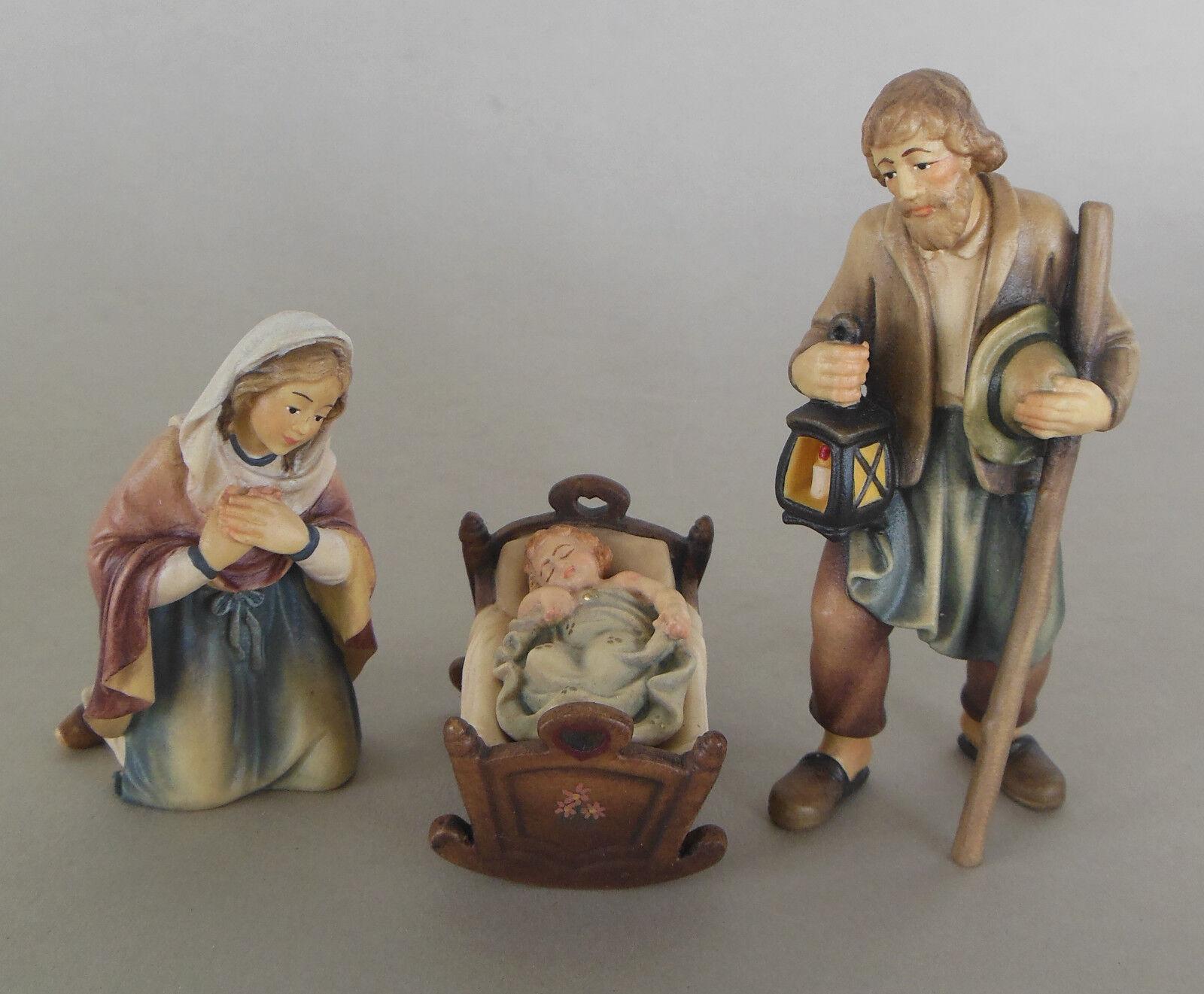 Heilige Familie Wiege Kind schlafend f. Krippenfiguren Größe 10 cm Holz bemalt