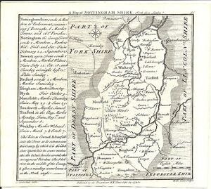 Antique-map-Nottinghamshire