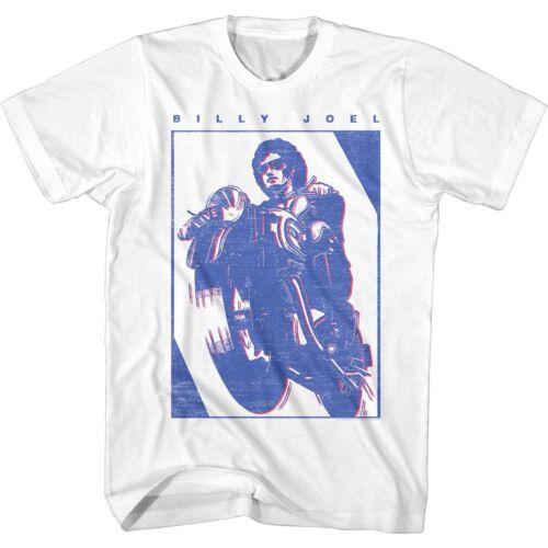Billy Joel Cruising On Motorcycle Adult T Shirt Soft Rock Music