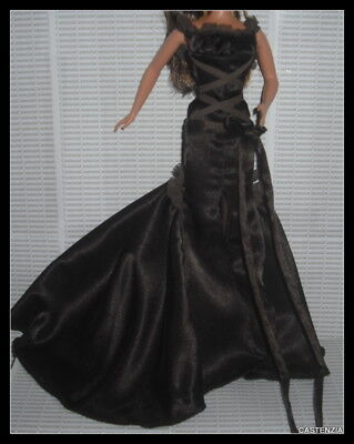 EVENING DOLL OBSESSION GOWN BROWN DRESS CHOCOLATE ACCESSORY BARBIE CLOTHING HXq5a7