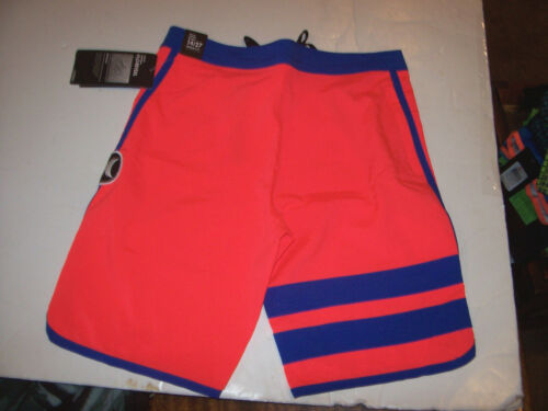 NEW Hurley orange red PHANTOM youth boys swim board shorts swimsuit 10 12 14 16