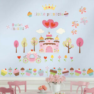 Beau Image Is Loading Girl 039 S Cupcake Castle Wall Stickers Girls