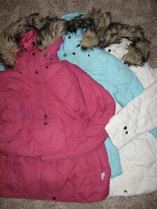Lands End Women Misses Pink Ivory Or Blue Parka Jacket