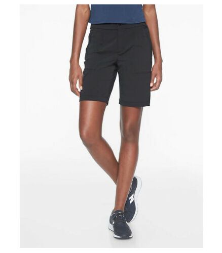 NWT Athleta TREKKIE Bermuda 2.0 Short Galactic Grey /& Black Size 0 and 6 0419!!!