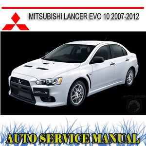 mitsubishi lancer evolution x 2007 2012 service repair manual dvd rh ebay com au 2007 Mitsubishi Lancer Evolution 2012 Mitsubishi Lancer Evolution GSR