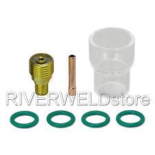 7pcs TIG Welding Torch Gas Lens #12 Pyrex Cup Kit for WP-9//20//25 Series BI1270