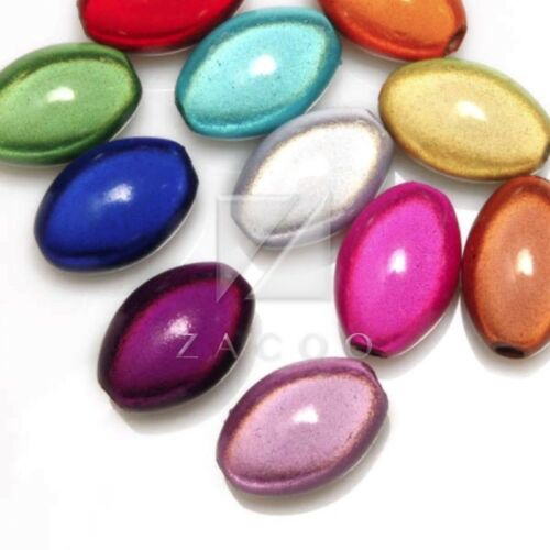 Mixed Acrylic Miracle Beads Spacer 3D Illusion Cylinder//Teardrop//Oval//Capsule BW