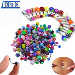 50-Pcs-Belly-Button-Navel-Ring-Bar-Bars-Body-Piercing-Jewellery-Rings-Makeup-UK