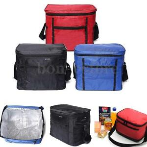 thermal outdoor cooler lunch box insulated picnic camping hiking portable bag us ebay. Black Bedroom Furniture Sets. Home Design Ideas