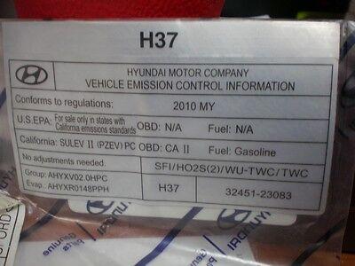 Genuine Hyundai 32450-23732 Emission Control Label