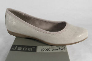 newest collection 02612 ada50 Details about Jana Women's Slip-Ons Ballerina Beige New