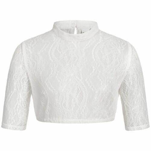Dirndlbluse Franca-Dali in Weiß von Marjo Trachten