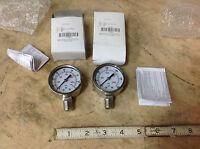 (2) Oxy Acetylene Mini Torch Regulator Ss 2 Pressure Gauges, 0-160 & 0-3000 Psi