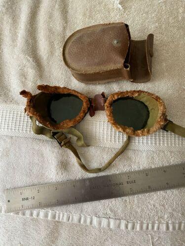 Antique Aviator Goggles Glasses  Military