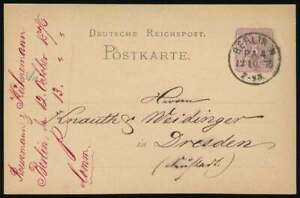 D.Reich BERLIN-Stempel KBHW 273, K1 N. P.A.4. auf Ganzsache n. DRESDEN (64292)