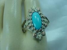 BLACK HILLS 12K GOLD & STERLING SILVER COLEMAN CO PERSIAN TURQUOISE RING   #1605