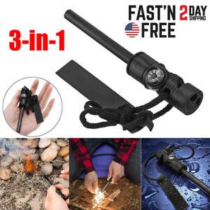 Fire Starter Flint Steel Striker Ferro Rod Waterproof Firesteel Camping Lighter
