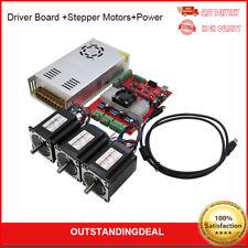 Mach3 Usb 3 Axis Cnc Kit Tb6560 Driver Board Nema23 Stepper Motorspower