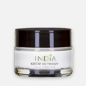 INDIA krem do twarzy z olejem z konopi/ Face cream with hemp oil