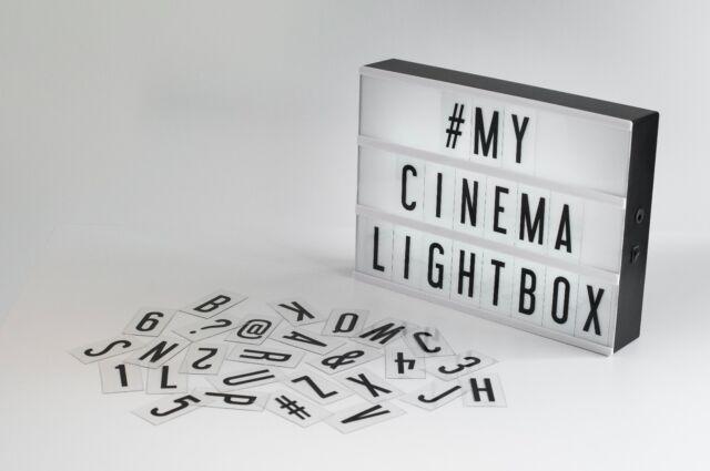 My Cinema Lightbox Original Usb Wall Mount Letters Characters