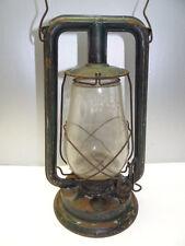 Antique Old Used Metal Green Paulls Tubular Barn Lantern Kerosene Lamp Parts