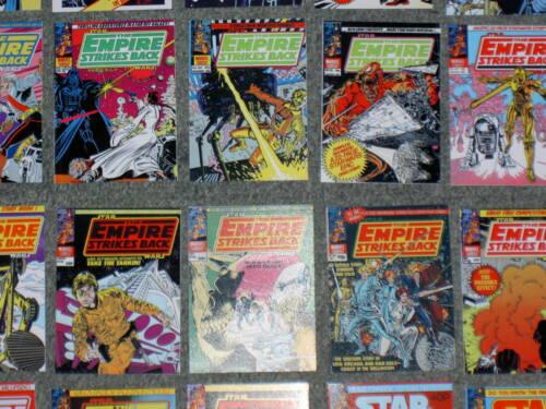 Vintage Star Wars,Empire Strikes Back UK Comics 118-171 6 MINI CARD/'S COVERS.S3