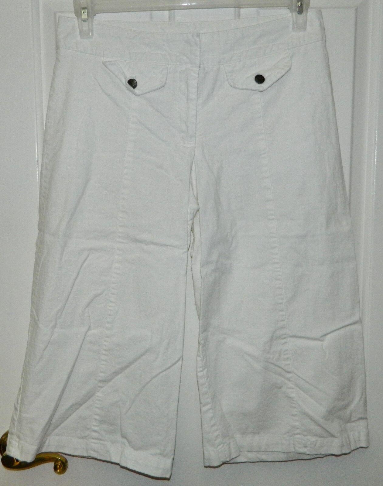 HEART SOUL womens juniors WHITE Cotton WIDE LEG C… - image 1