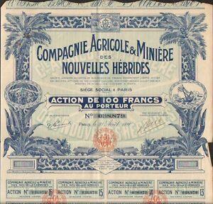 TOP DECO =/>Compagnie Agricole /& Minières des NOUVELLES HÉBRIDES X