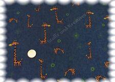 Jeans-Giraffen Stretch-Jeans Köper dunkelblau 50 cm Kinderstoff Nähen Jeansstoff