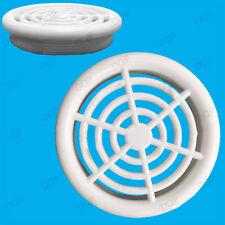 2x White Vivarium Reptile Push Fit Round 48mm Air Vents, 34mm Hole, Ventilation