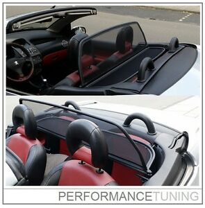 Coupe-vent-Filet-anti-remous-PEUGEOT-206-cc-206cc-Cabrio-a-Fermeture-rapide