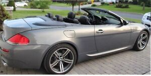 BMW M6 2007, CONVERTIBLE, Fully loaded,V10 7 SPEED SMG transmis
