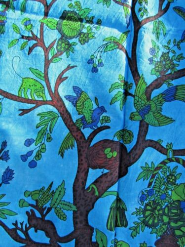 Fair Trade Hand Made Crafted Fabric Tie Dye Indian Tree Of Life Wall Art Hanging