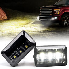 White Led Fog Lights Front Bumper Driving Lamp Assembly For 2015 2019 Ford F 150