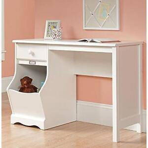 Genial Details About Soft White Kids Desk Study Writing Table Laptop Student  Computer Office Storage