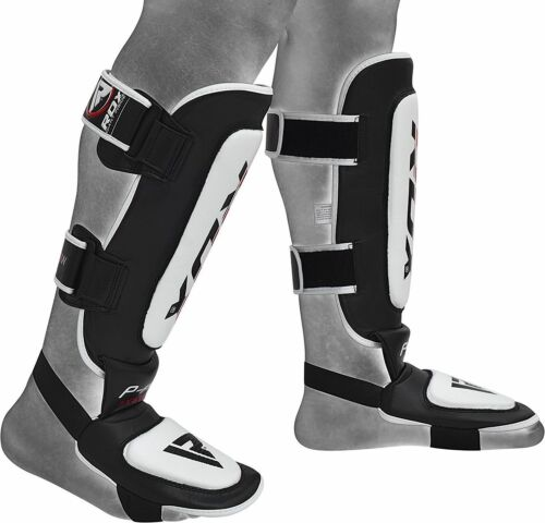 RDX Leather Shin Pads Instep Protector MMA Leg Foot Guard KickBoxing MuayThai CA