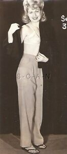 Org Vintage 1940s-50s Semi Nude Sepia RP- Blond- Pant Suit