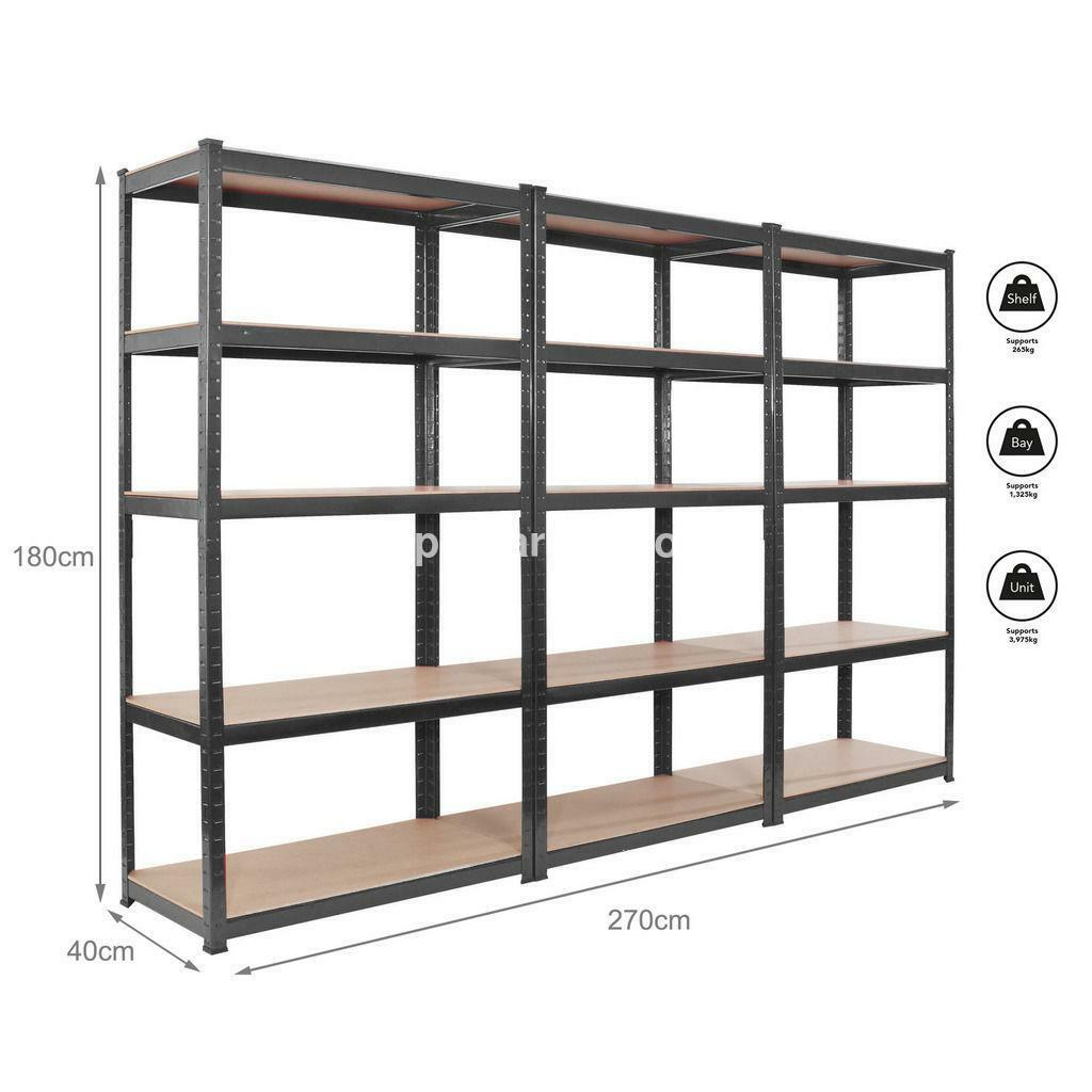 Heavy Duty Garage Storage Racks : Industrial racking storage metal garage shelving heavy