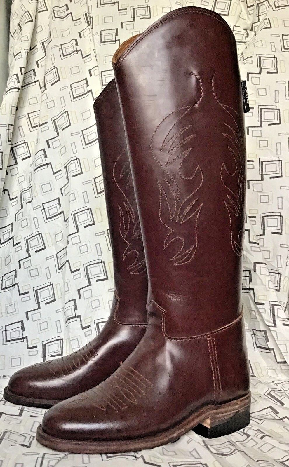 Polo Player Boots - Men's 11 - Red Brown - Equestrian Tall Boots Western Boots