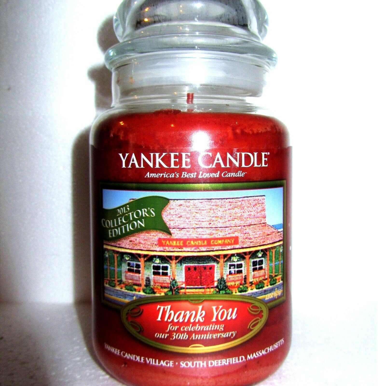 Yankee Candle THANK YOU Be ThankfulDeerfield30th AnniversaryLarge 22 ozRARE