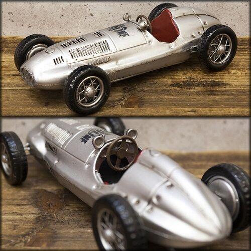 Modèle Vintage Tin plaque argent F1 voiture de course livraison gratuite ! Q7307-3