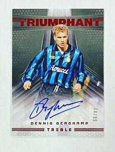 2018-19 Panini Treble Soccer Dennis Bergkamp Triumphant Red Auto # /99 Autograph