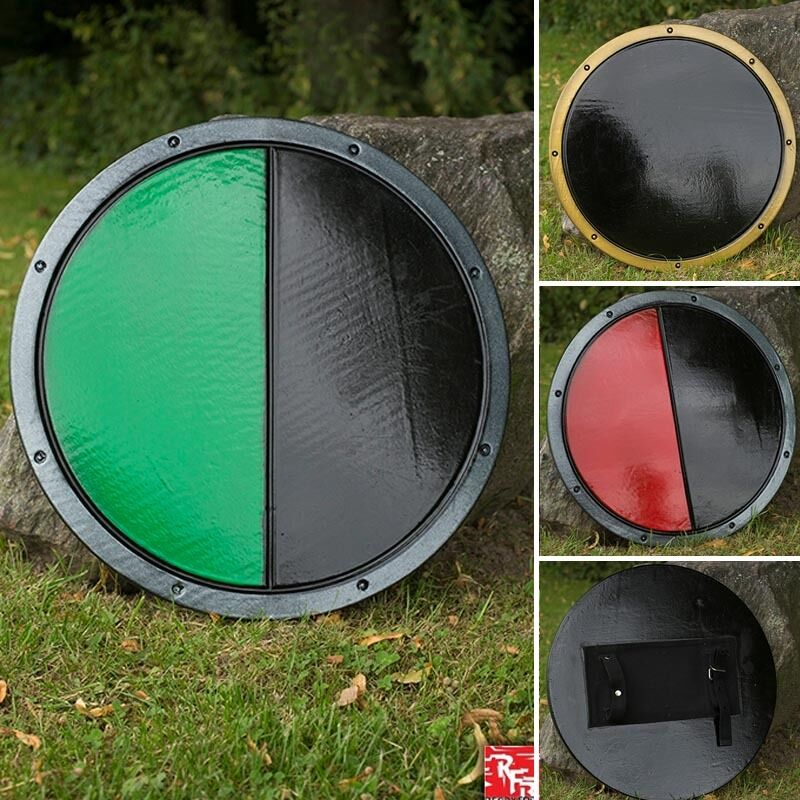 Ready Ready Ready For Battle Round Shield Perfect for Costume Re-enactment Or LARP 54a66b