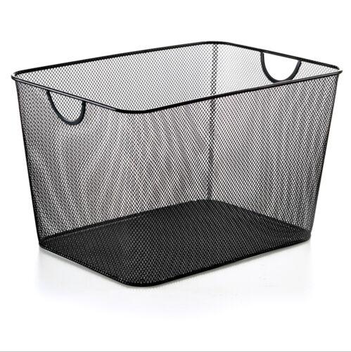 YbmHome Household Wire Mesh Open Bin Shelf Storage Basket Organizer Black 1040vc