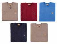 Gabicci Vintage Mens Jumper Cotton Blend and Lambswool Cable Knit