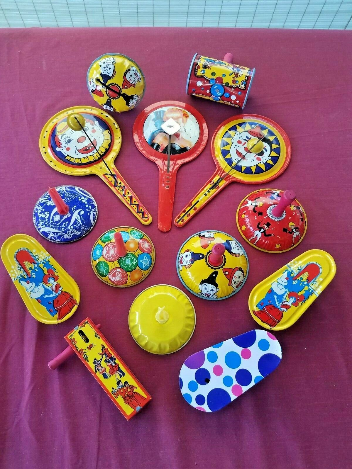 Lot Of 14 Vintage Metal Tin Noise Makers Mostly Kischhof Kischhof New Years Party