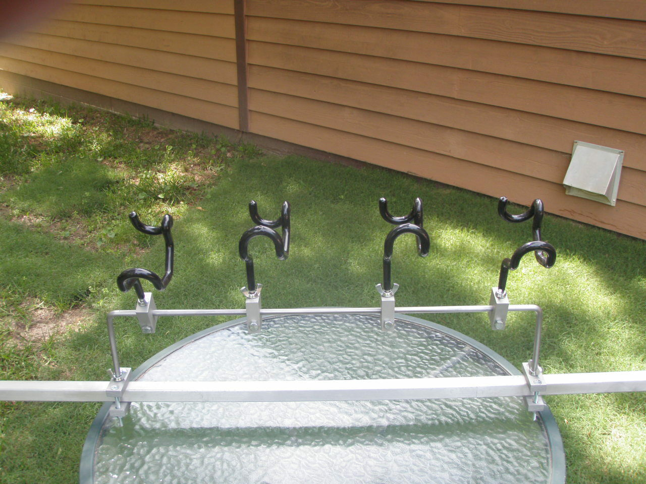 Fishing Rod Holders  for Pontoon Rails Drill No Holes Adjust to any Angle