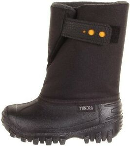 b12873c8e7dcf Snow Boots Winter Boots Black Tundra Kids Teddy Toddler Little Kid ...