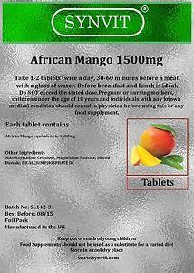 Mango africano pastillas para adelgazar
